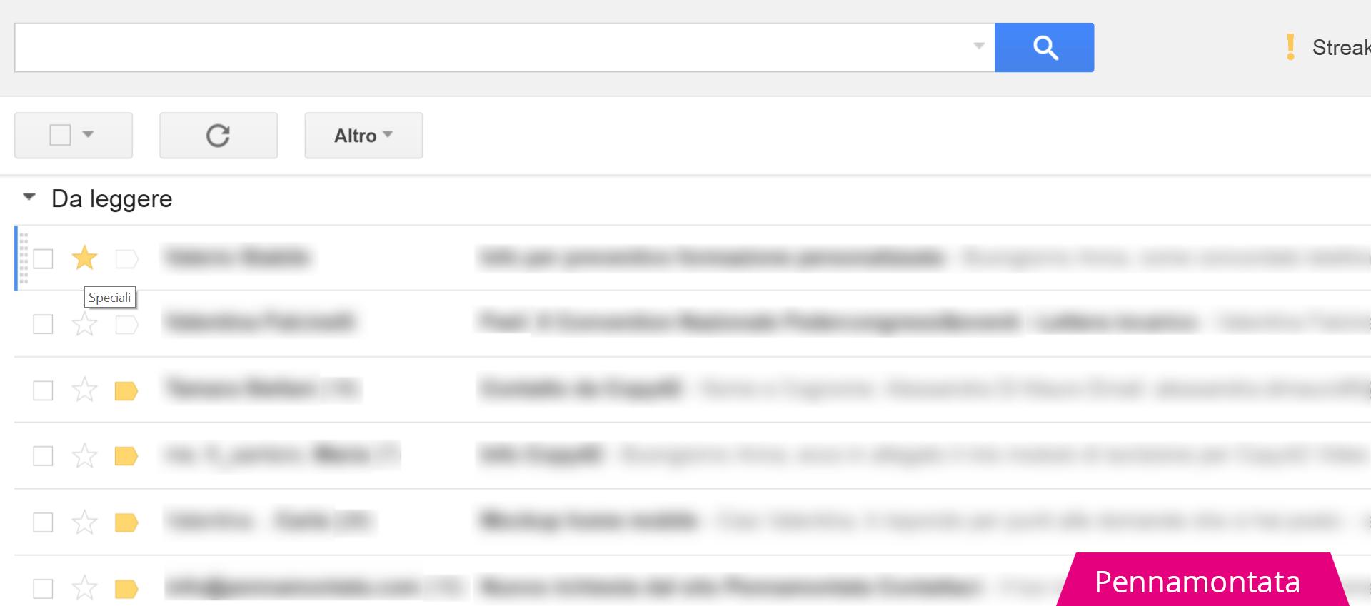 Messaggi speciali Gmail
