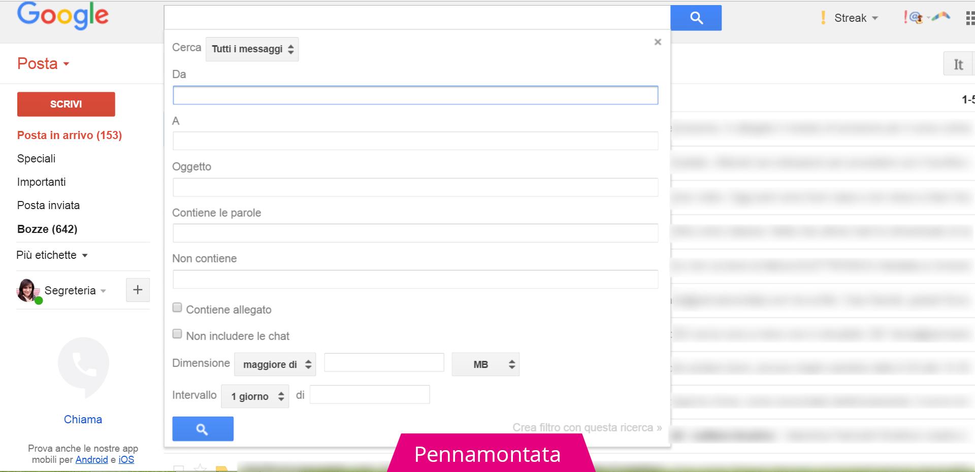 Filtri di Gmail