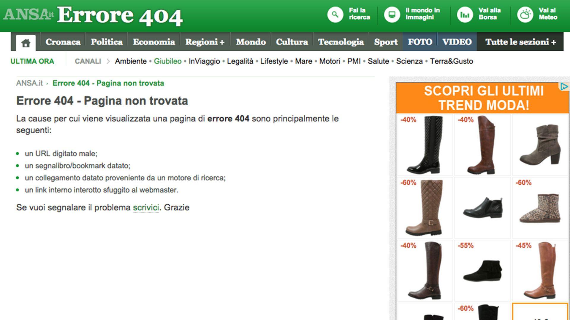 Pagina 404 ANSA