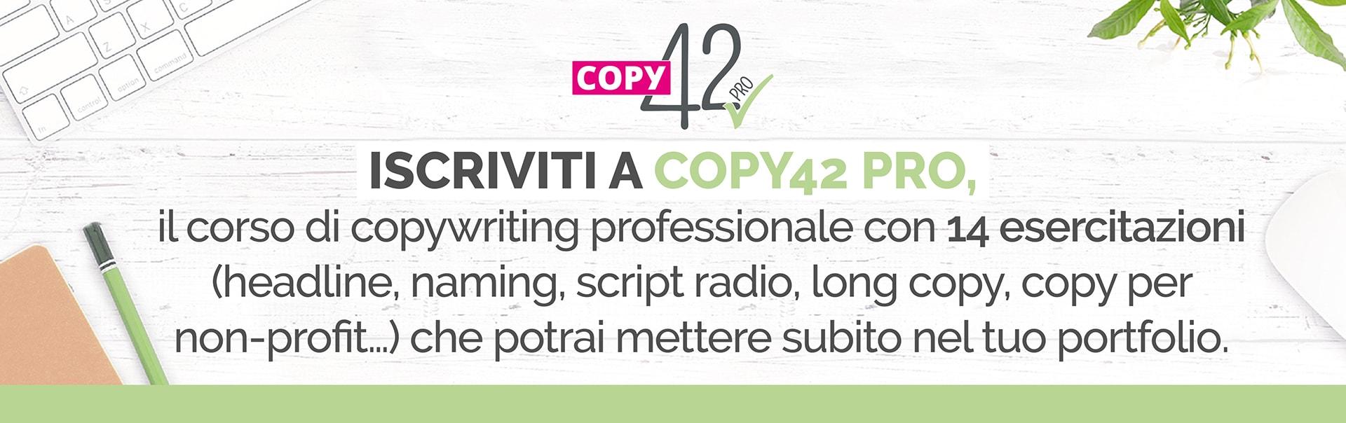 Copy42 i corsi per copywriter