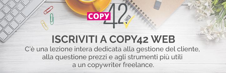 Corso per copywriter prezzi
