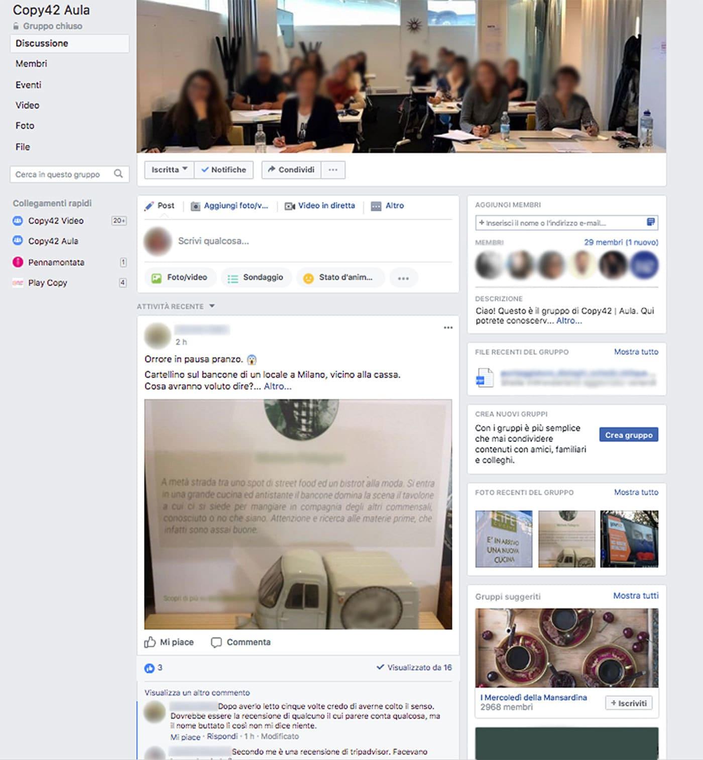 Gruppo Facebook Copy42