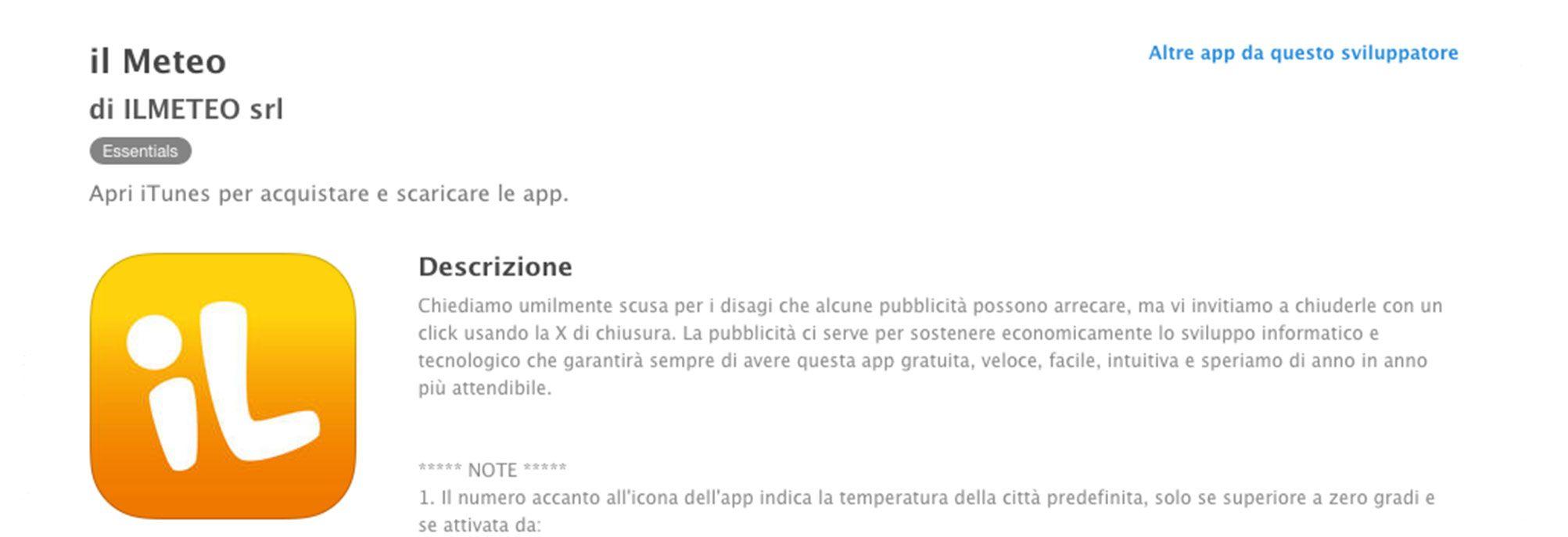 Copywriting app Ilmeteo