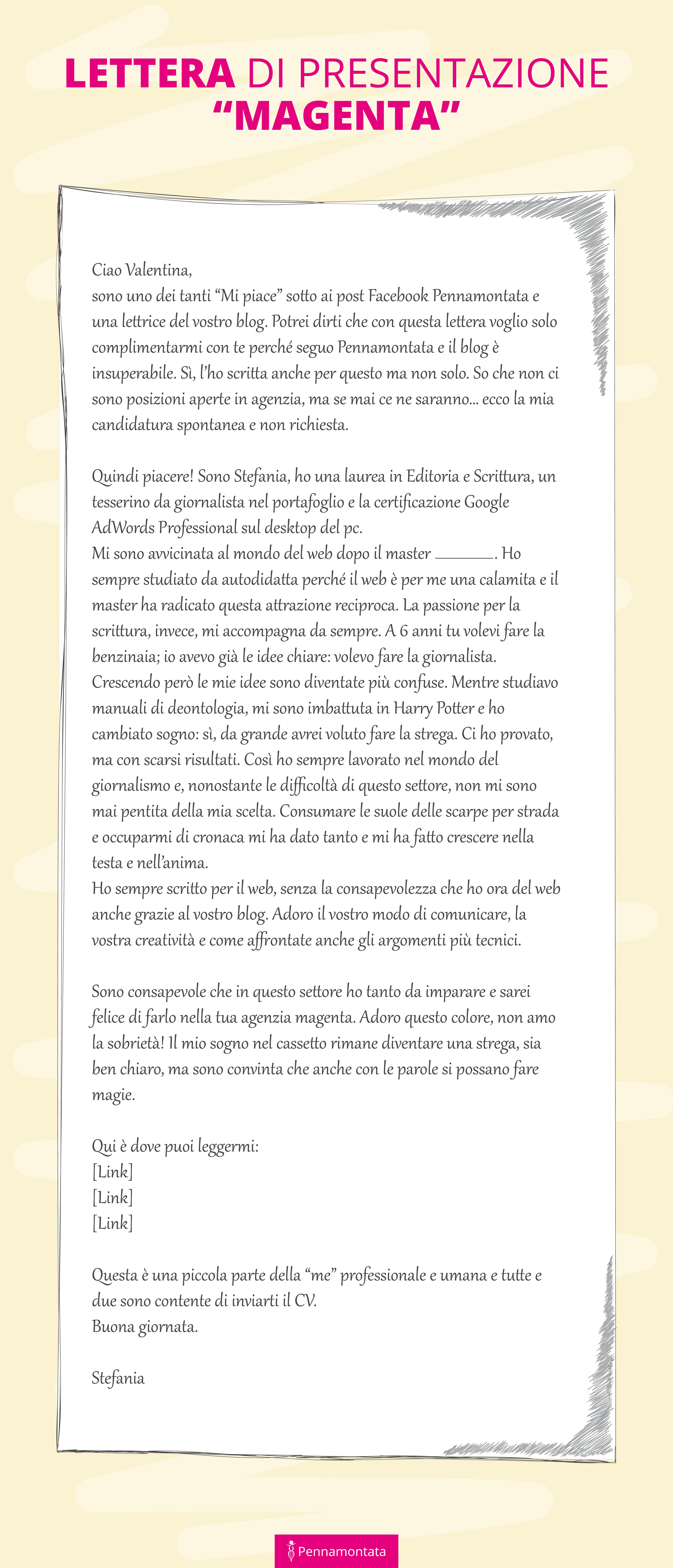 Lettera di presentazione Pennamontata