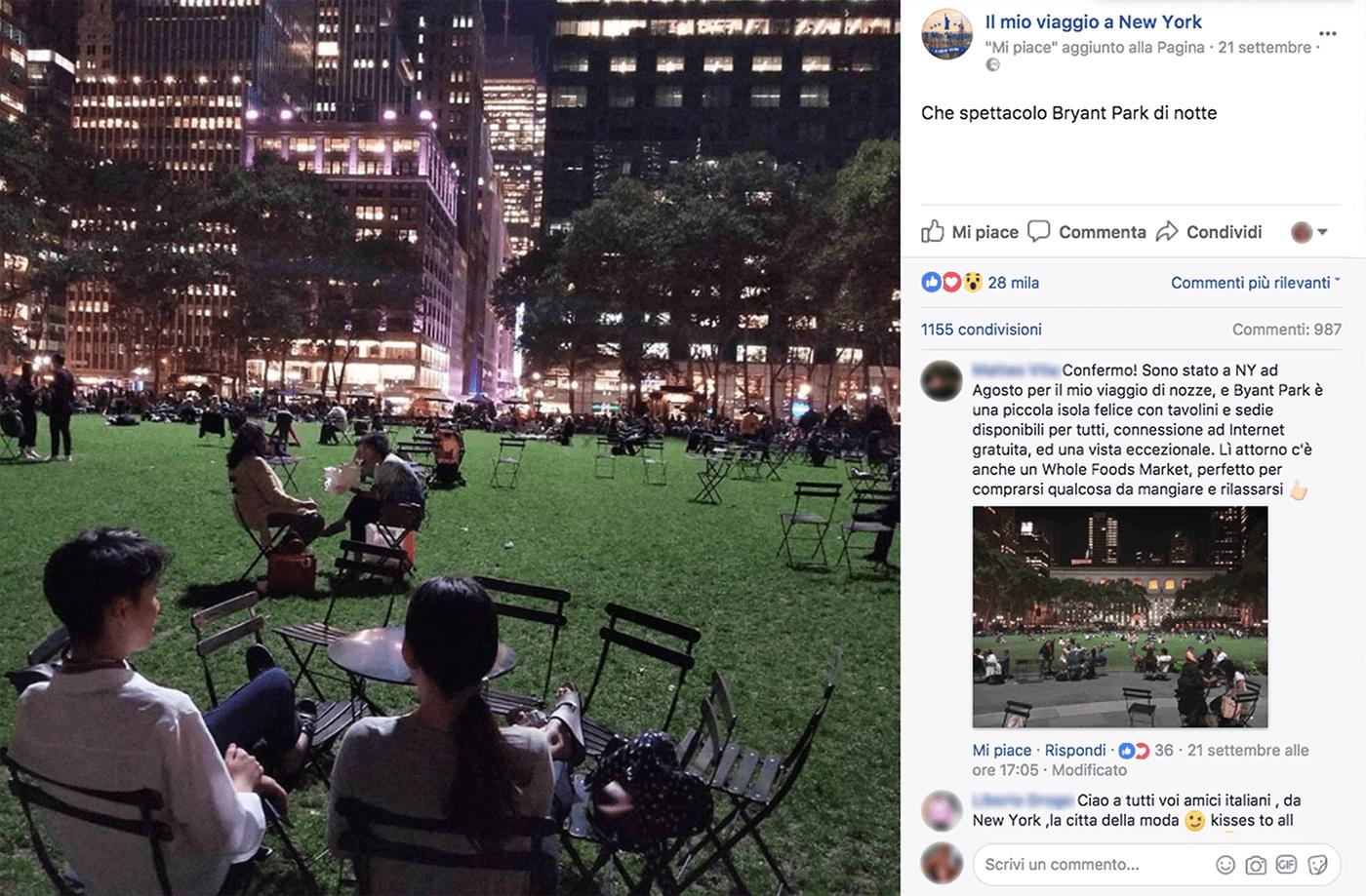 Post Facebook New York