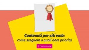 content strategy definire le priorità dei contenuti