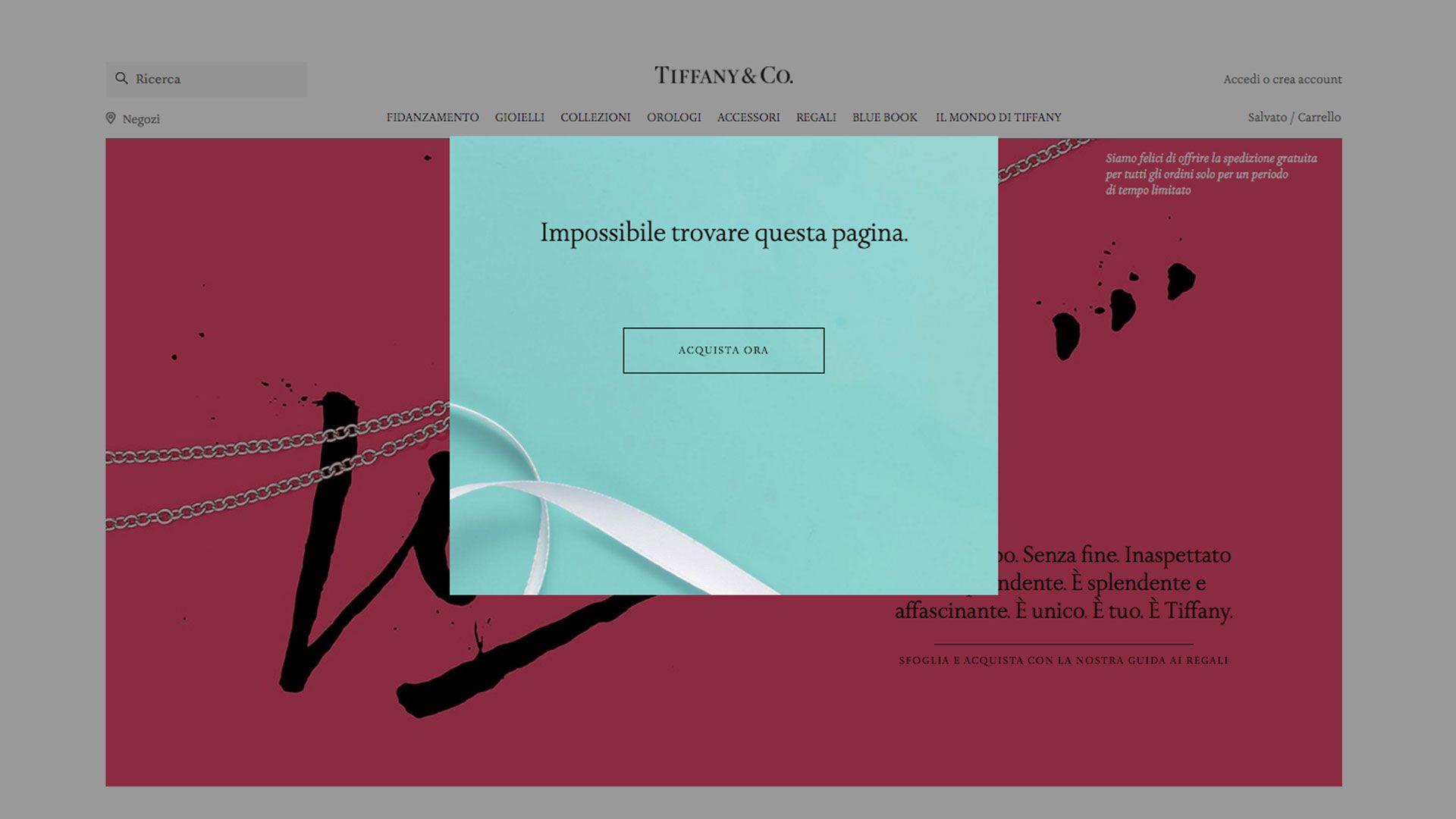 Pagina 404 Tiffany