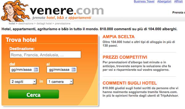 Value proposition Venere