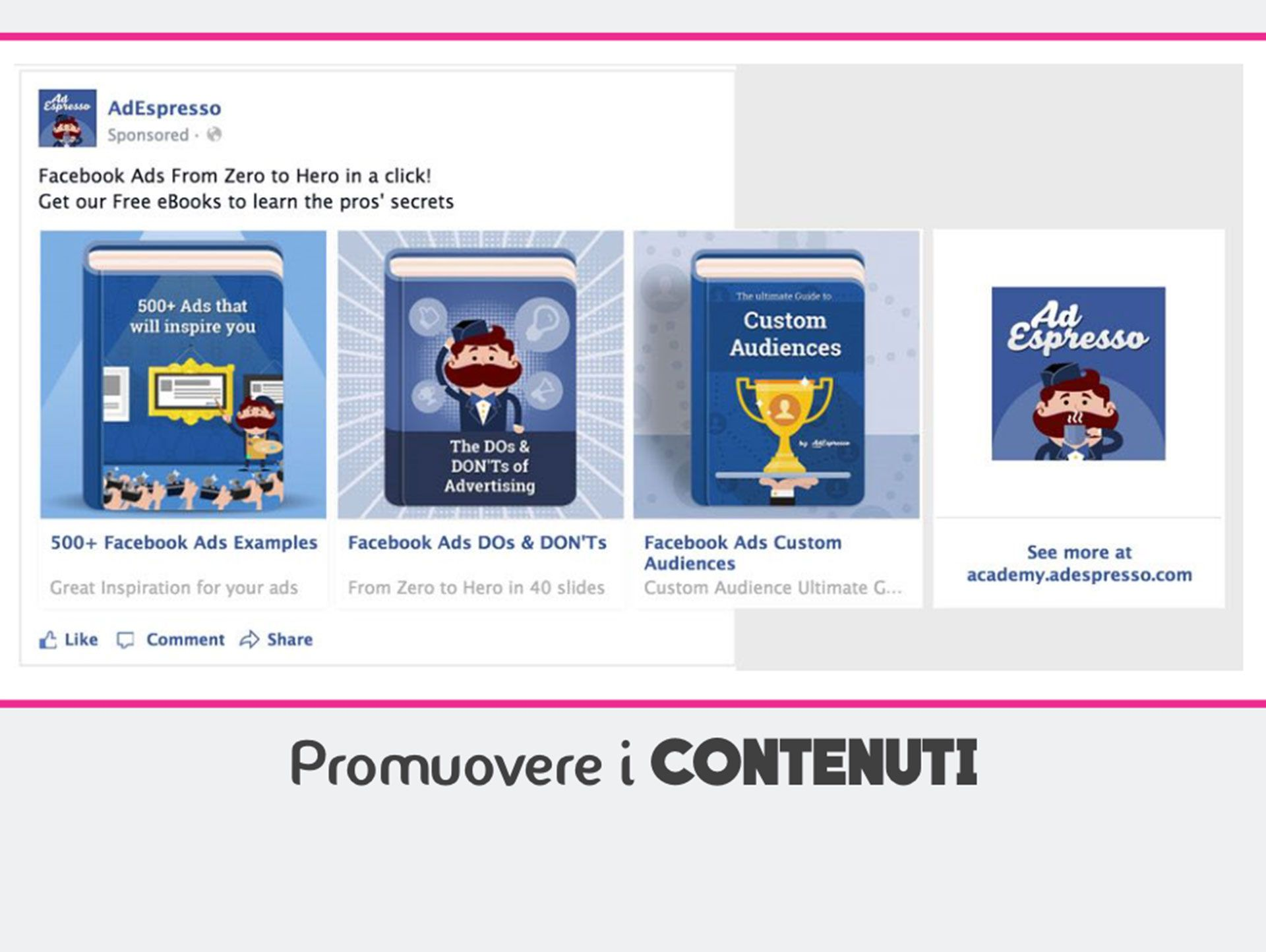 content marketing e facebook ads