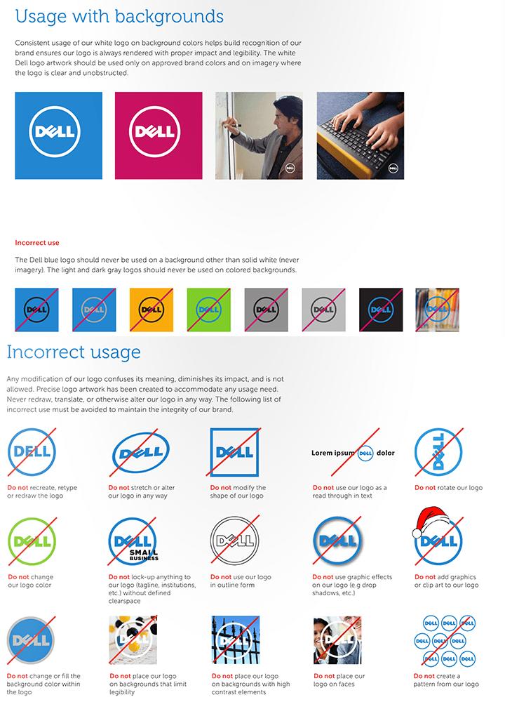 Dell guidelines per il logo