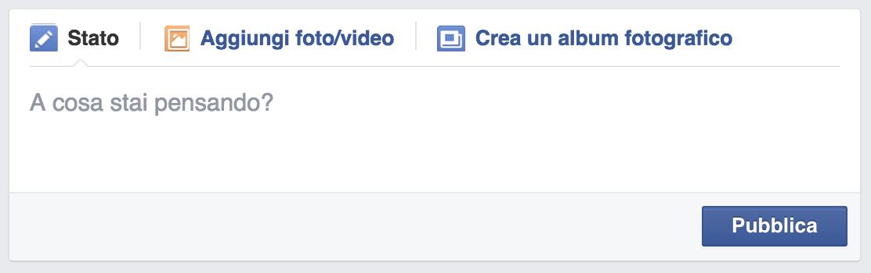 Uso della domanda su Facebook