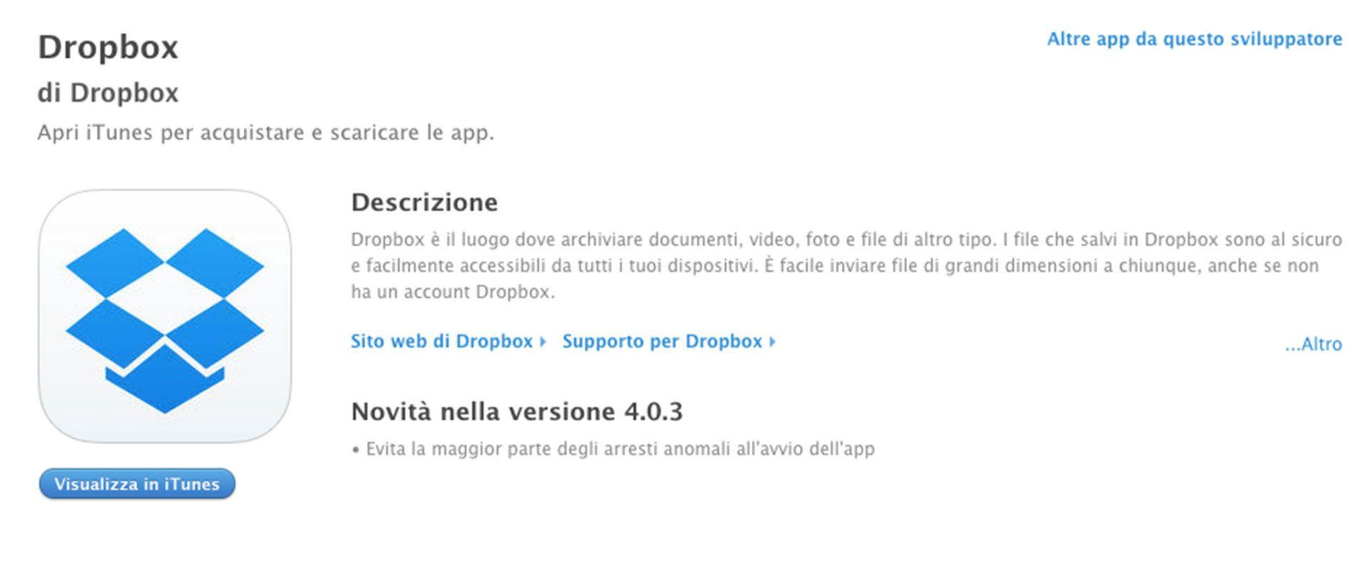 Copywriting app Dropbox