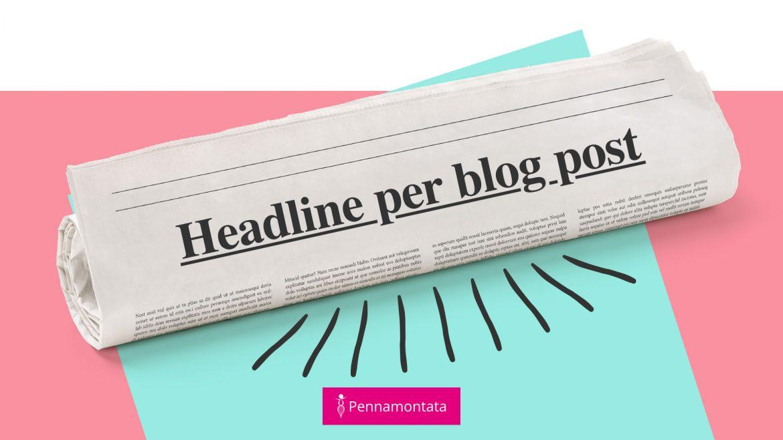 Headline per blog