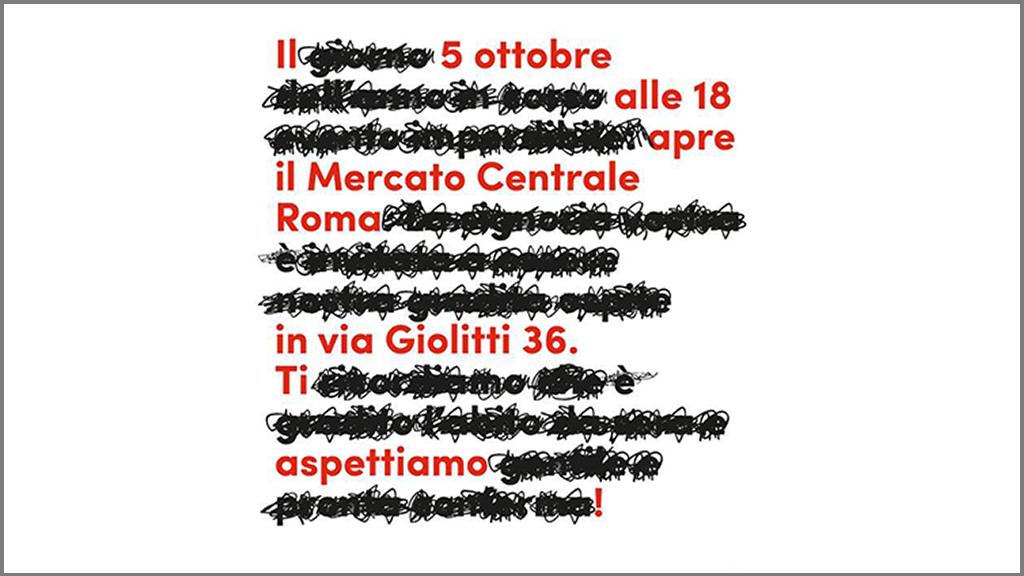 esempio comunicazione mercato centrale roma
