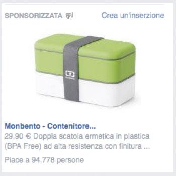 esempio negativo facebook ads