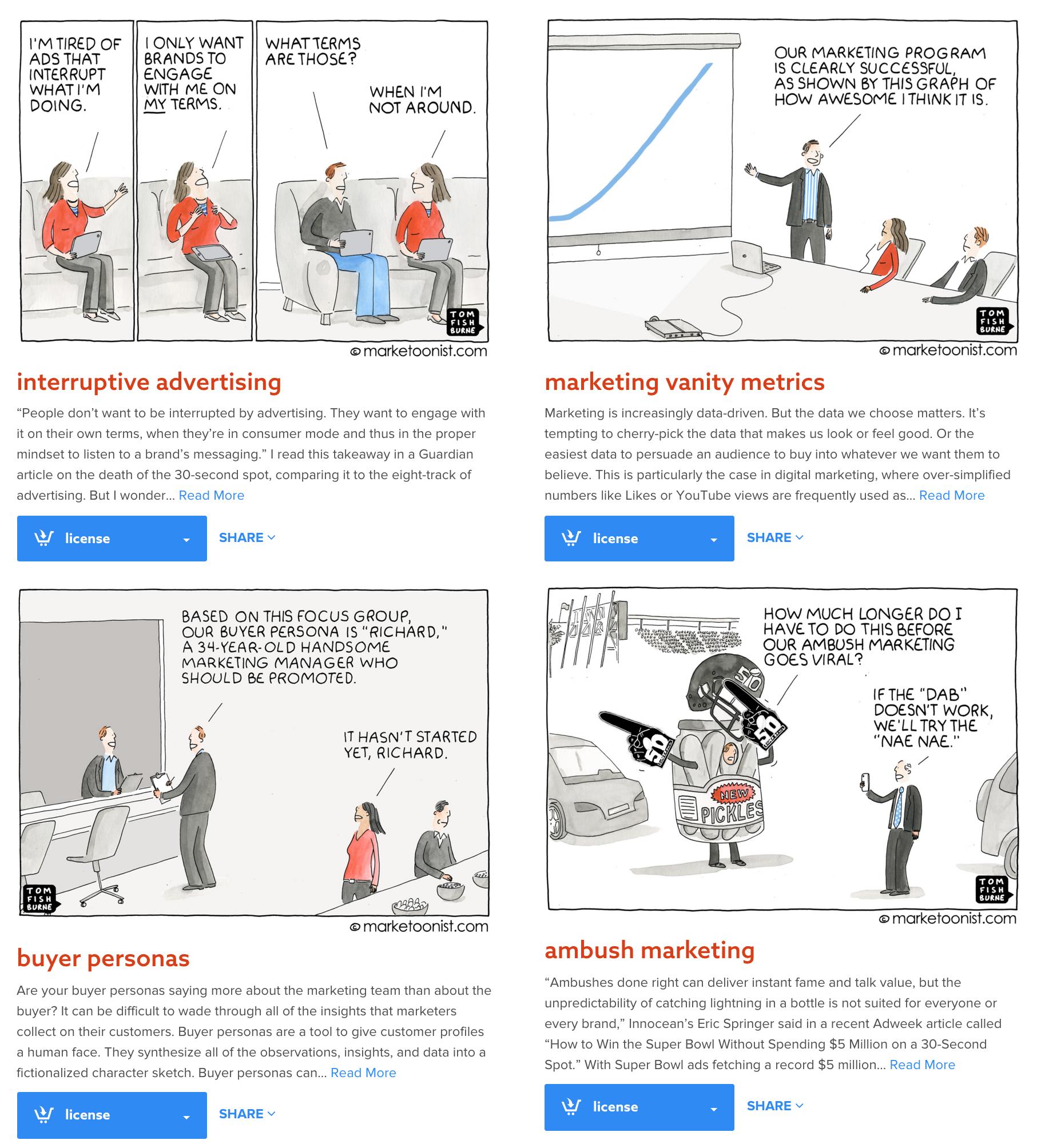 Fumetti visual blog Marketoonist