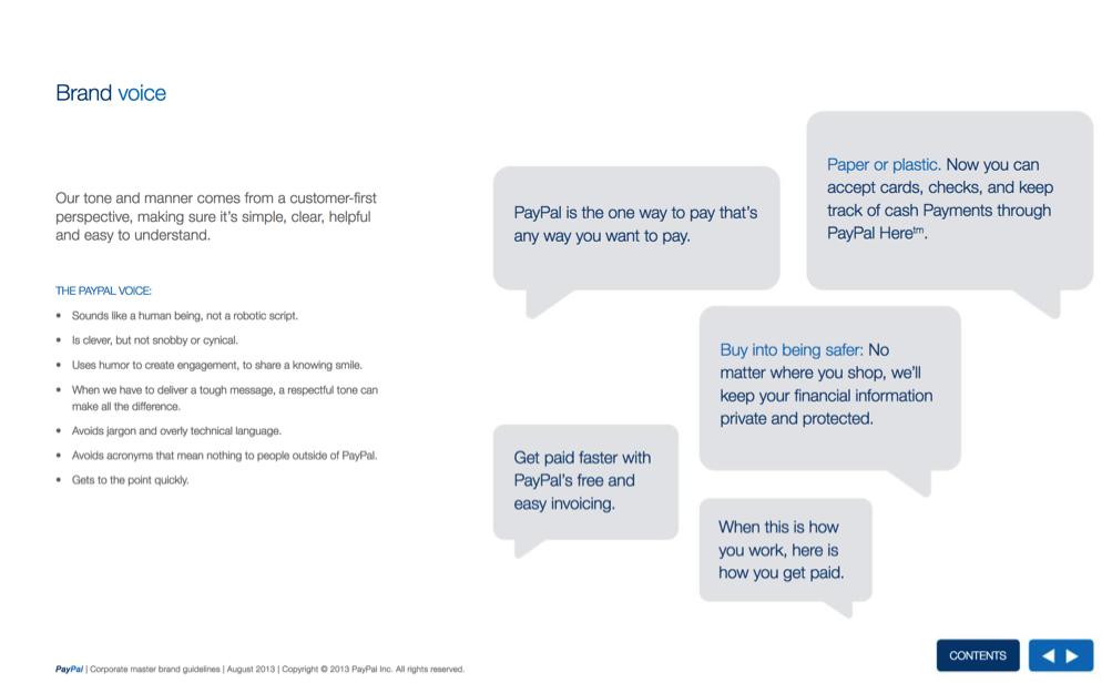 guida di stile PayPal