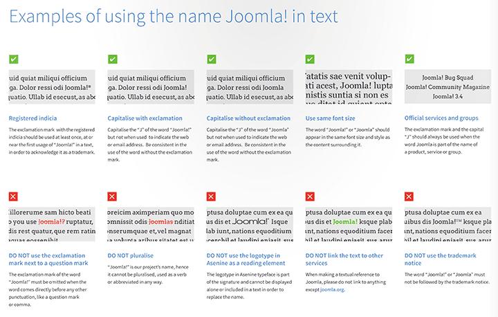Joomla guidelines