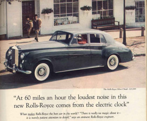 Ogilvy pubblicità Rolls Royce