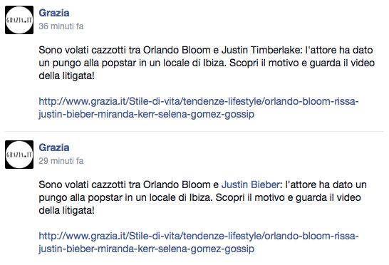 Refusi su pagina facebook Grazia