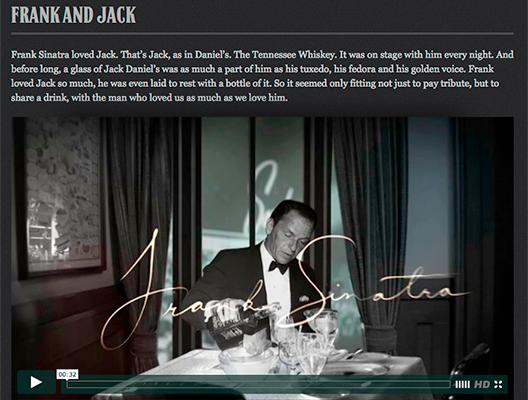storytelling jackdaniels sinatra
