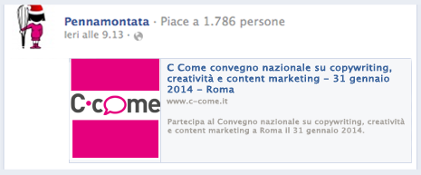 vecchio post con link facebook